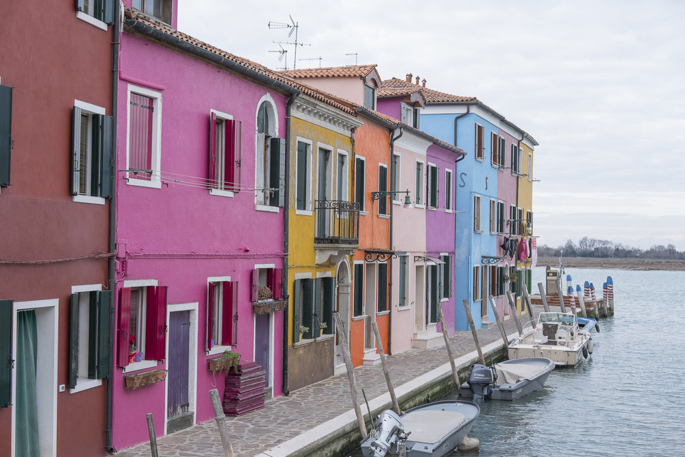 Colourful houses on Burano Island.