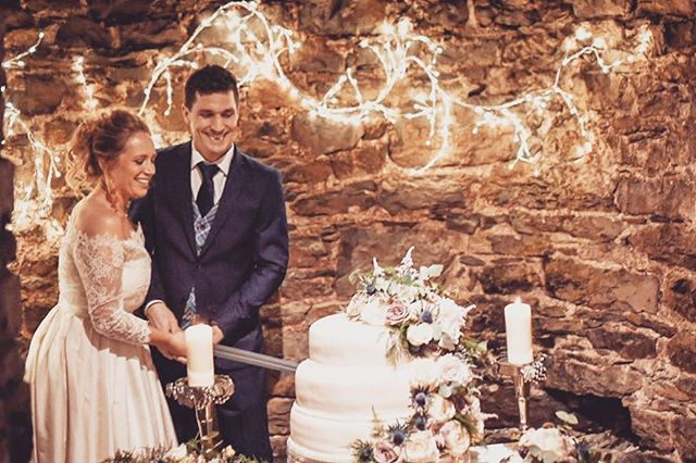 The Great Wedding Weekend - Part 3! . When you cut your wedding cake with a sword?? Traditional Gaelic swagger with an Aussie twist yesterday in Tralee...the black gold was certainly flowing for these two miners! Congratulations Michael and Terri 👷🏻‍♂️❤️👷🏼‍♀️ #mininganddining