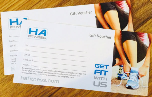 Christmas Fitness Vouchers