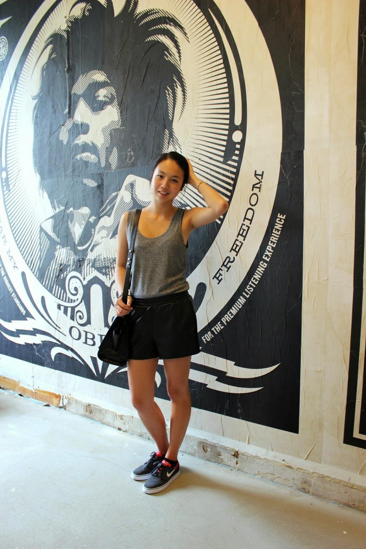 Top & Leather Shorts by Topshop  Zac Posen Handbag, Nike SB Zoom Janoski