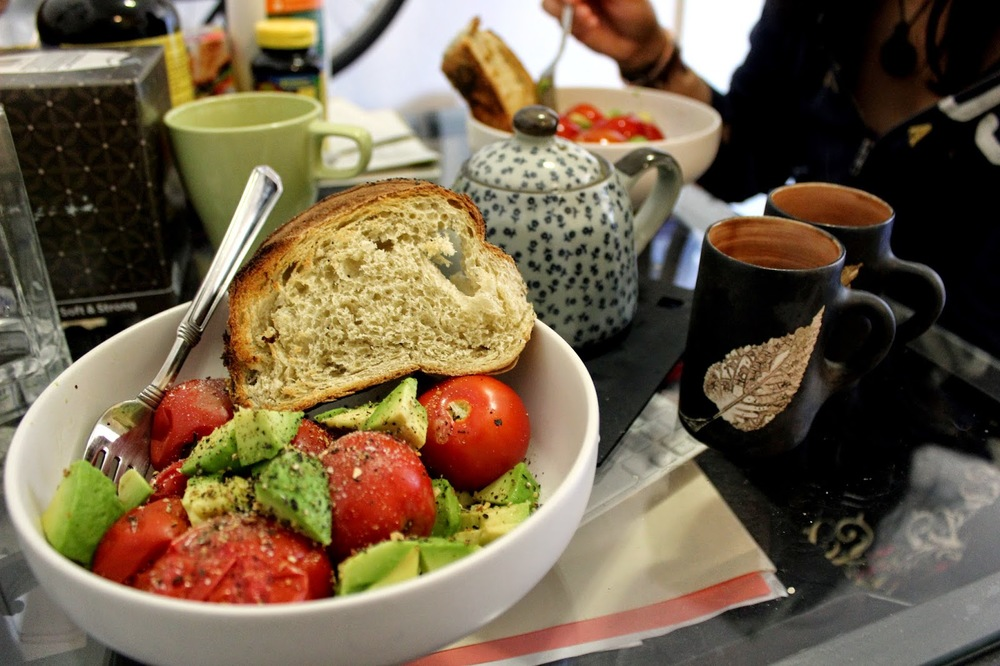 Carla's Boiled Tomatoe & Avocado Salad LOVED IT! ♥.♥