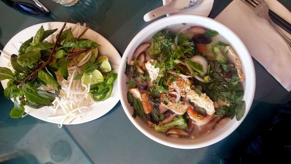 Vietnamese Pho with Tofu & Veggies