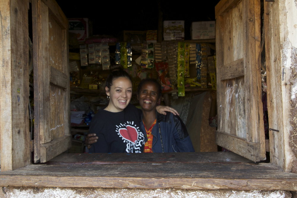 """This is Firehiwote's mom, Konjit, and the shop she built in Sodo, Ethiopia. It's the shop and family I was talking about as my most favorite recent memory from GGRF."""