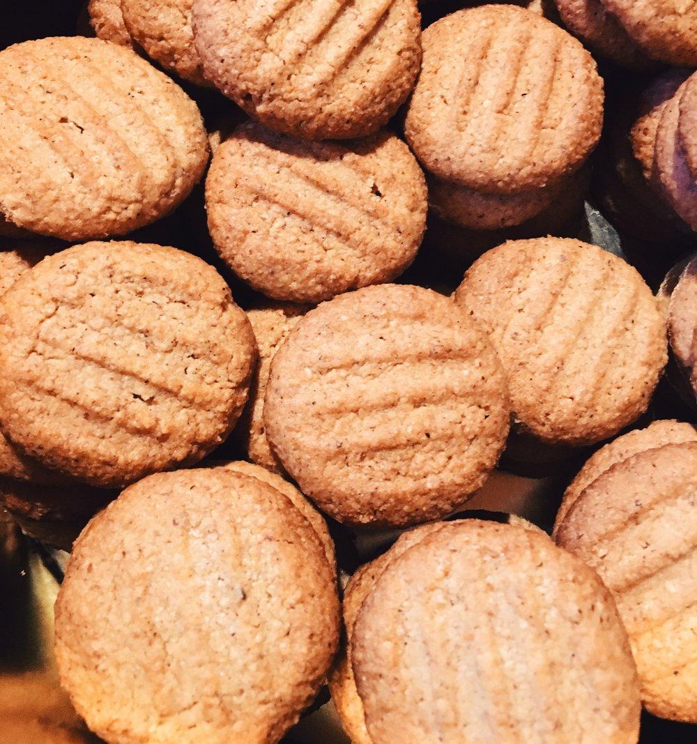 Homemade, vegan cookies... yum!