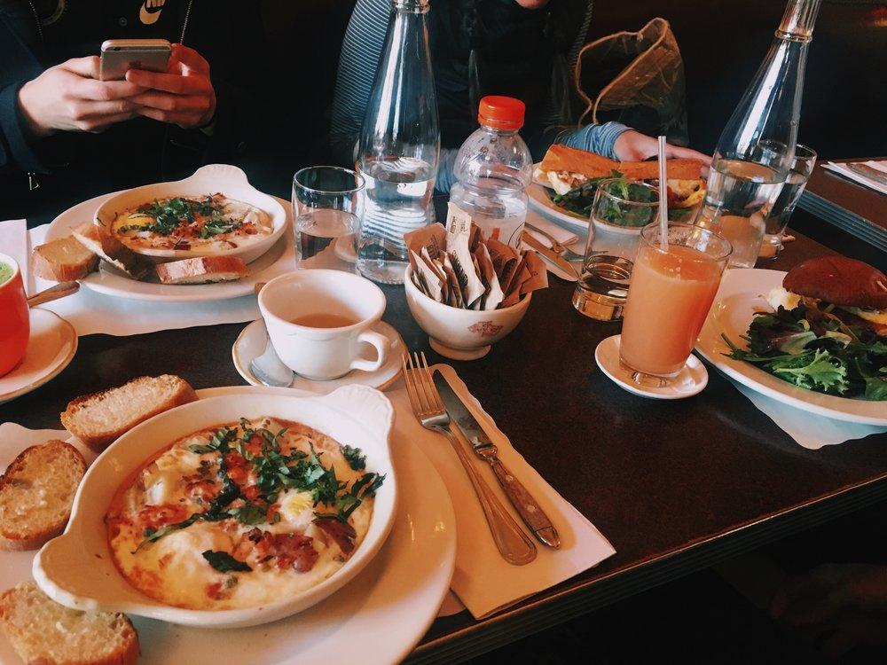 Post NYC Half cheering breakfast at  Cafe Gitane .