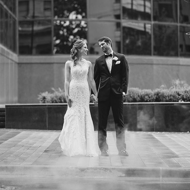 Caroline and Logan. 💕  #blackandwhite #mayo #tulsaphotographer #tulsaweddingphotographer #tulsaweddingphotography #oklahomaweddingphotographer #oklahomaweddings #oklahomabride #downtowntulsa #simplylove #love #canon #pursuitofportraits #pursuepretty