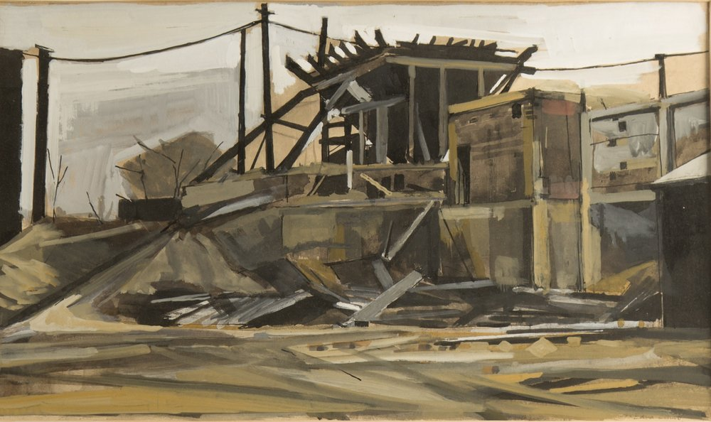 Horsforth Quarry (Abandoned Structure), c.1962. Mixed media. Photo by Anne Wyman..jpg