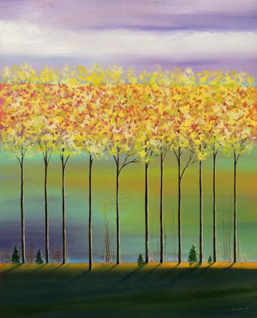 Purple Sky/Yellow Trees