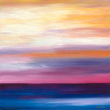 Dark Water/Pink & Orange Sky