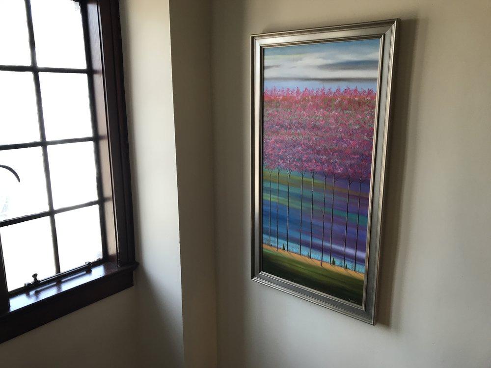 """36"""" x 18"""", framed"""