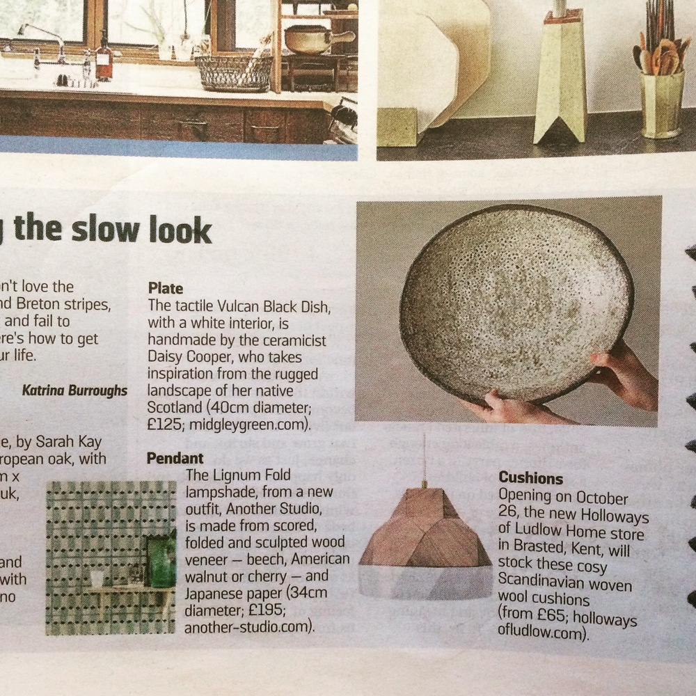 THE SUNDAY TIMES NEWSPAPER - INTERIORS FEATURE - SLOW LIVING.