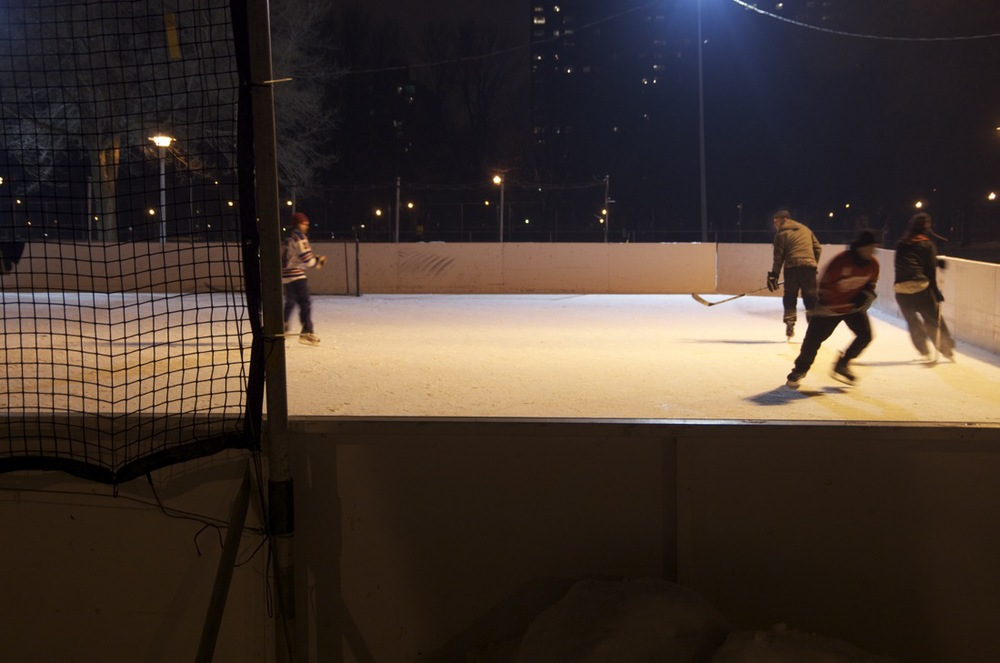 Soirée de hockey, parc Lafontaine, 2/2