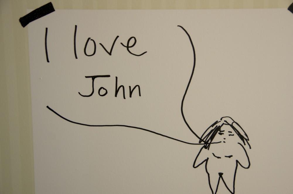 I love John < comment