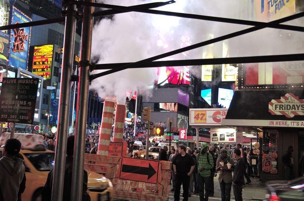 Midnight on Times Square, Series 3, 10 of 10 (Steam Pipes on 46th Street)