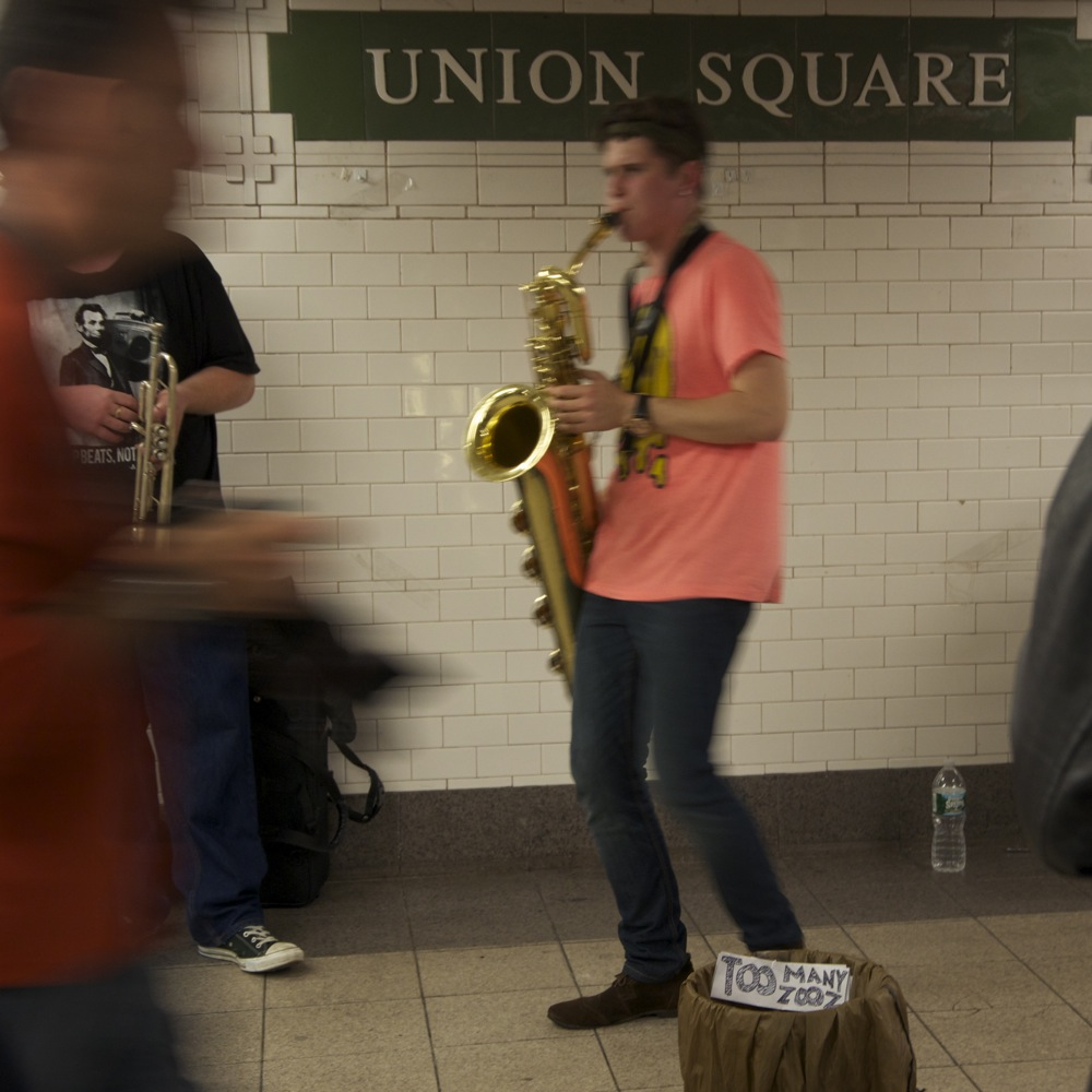 Saxophone, Live at the Union Square Station