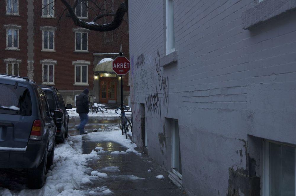 commenter > Rue Napoléon (pluie, neige, tombée du jour), 2/2 < comment