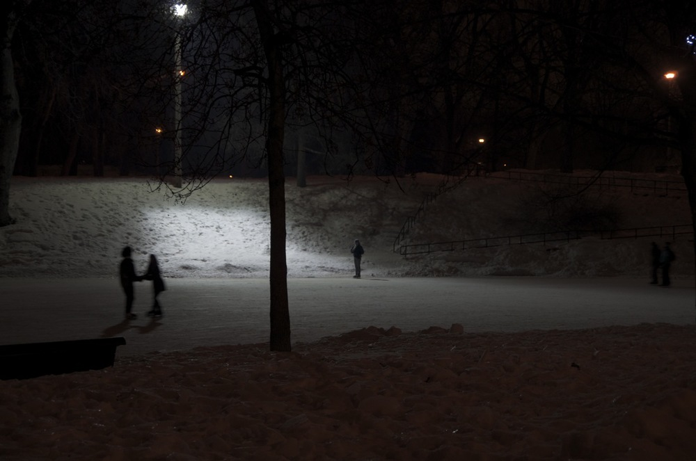 Patineurs nocturnes, parc Lafontaine 2/2