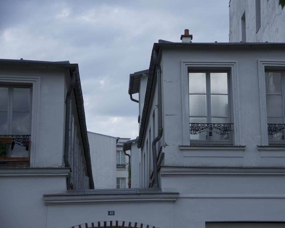 Lignes de toîts, rue des Panoyaux