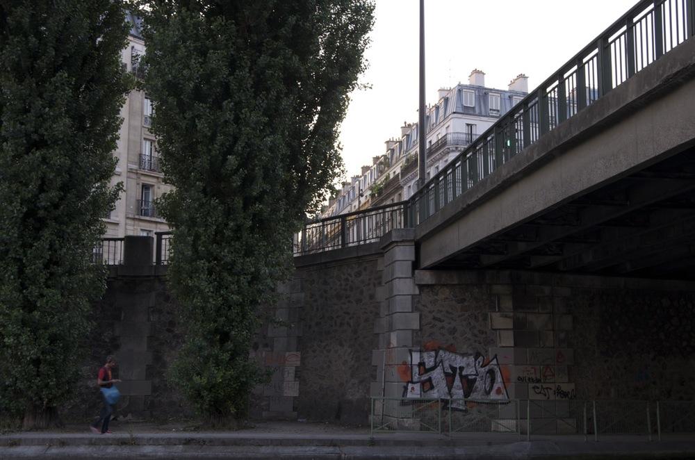 Canal St-Martin, au pont de la rue Louis-Blanc
