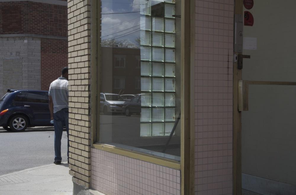 Fenêtres d'un vestibule, rue L.-O.-David