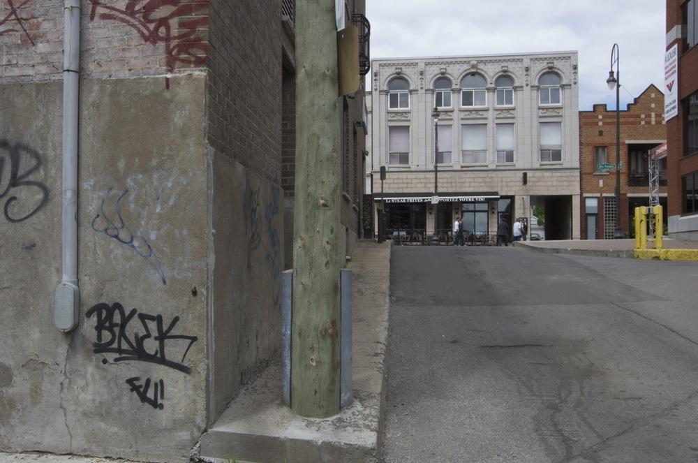 La rue des Forges, depuis la rue Craig
