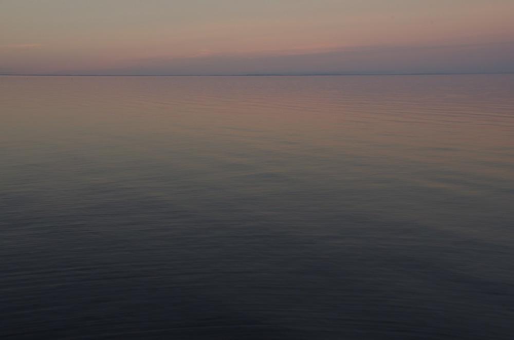 Au tomber du jour, lac St-Jean