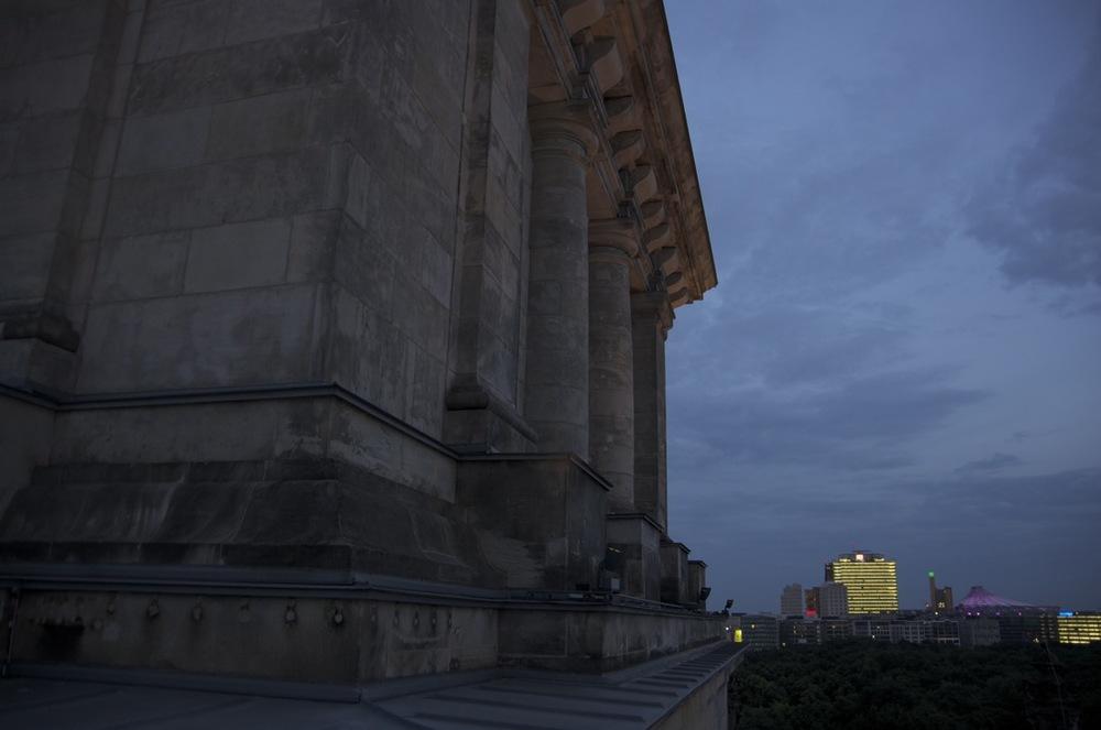 Lichter von Potsdamer Platz von das Reichstag