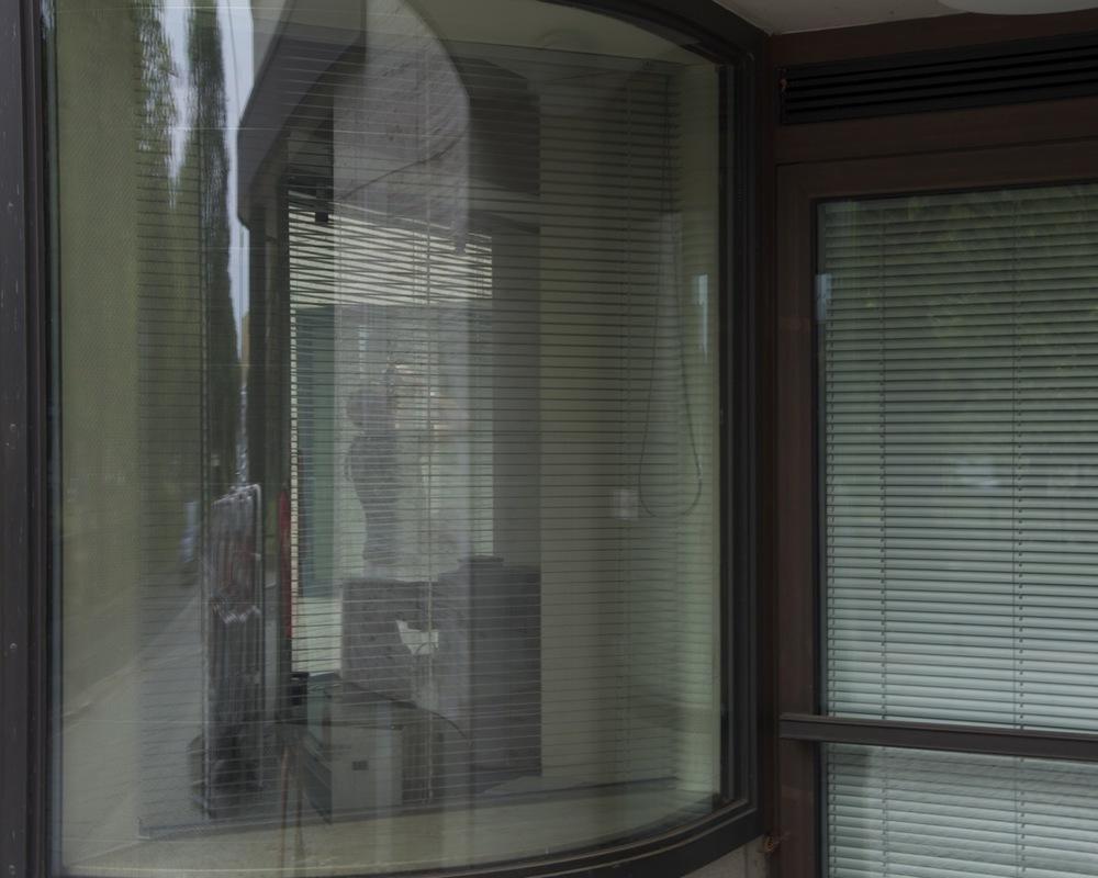 Gewölbt Fenster, ShellHaus, Reichpietschufer