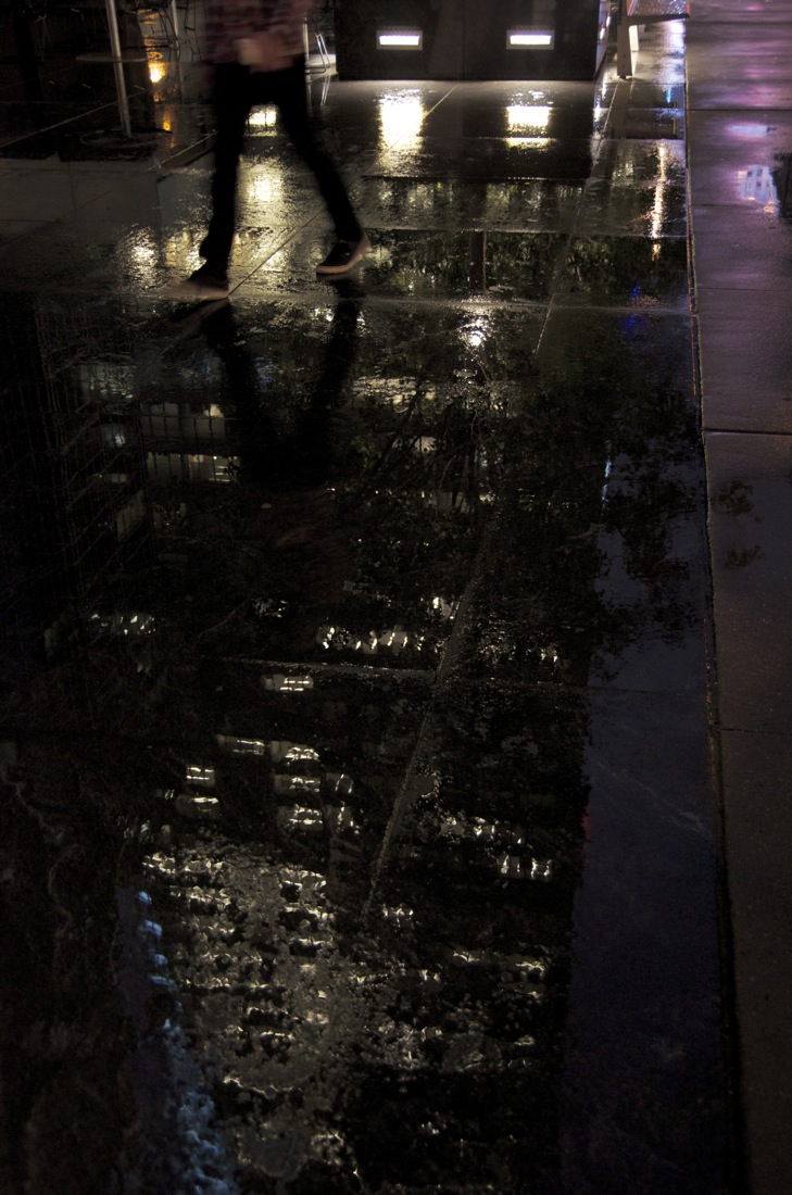 Rain on a Granite Pavement, 43rd Street