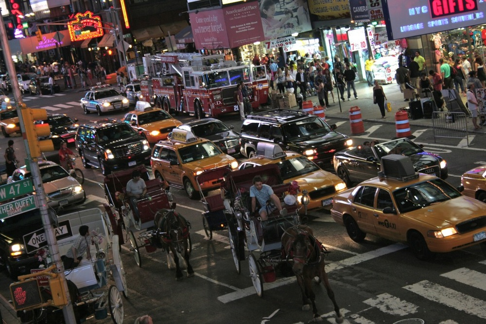 Midnight on Times Square, series 1, 2 of 6 (Hot Summer Night Traffic)