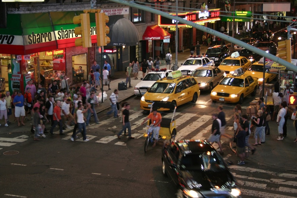 Midnight on Times Square, series 1, 4 of 6 (Rickshaw and Taxis)