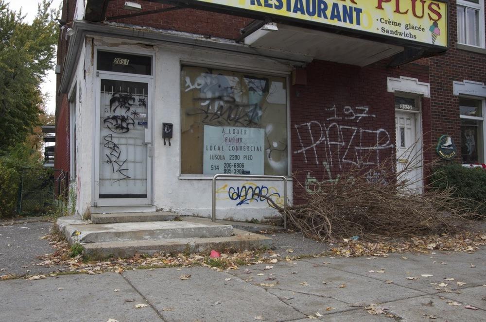 Commerce à l'abandon, rue Beaubien Est