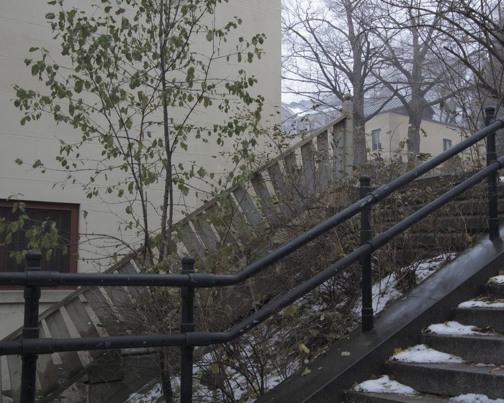 Escalier du Musée (léger brouillard)