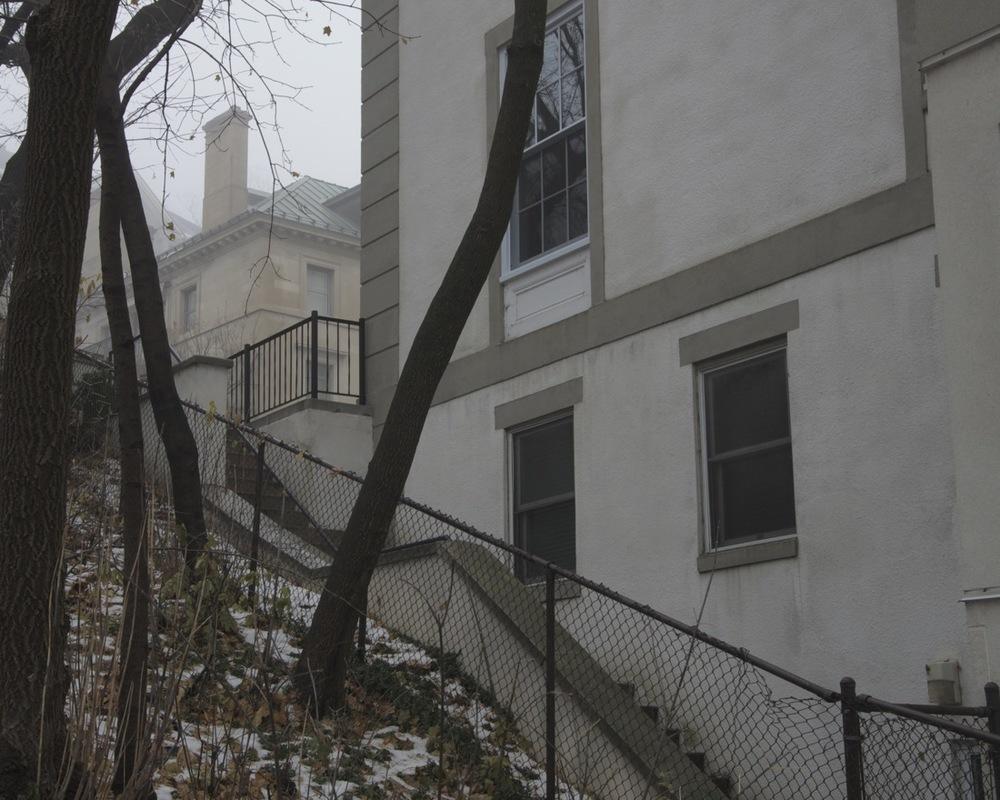 Escalier Redpath (léger brouillard)