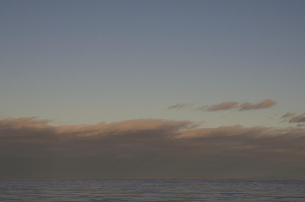 Nuages d'hiver sur le lac glacé, Lac St-Jean