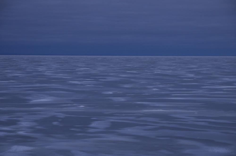 Le lac glacé à la tombée du jour, Lac St-Jean