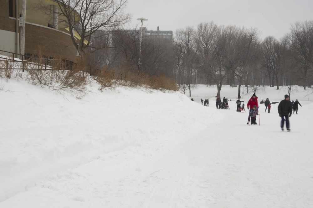Patinage libre, parc Lafontaine, 1/2