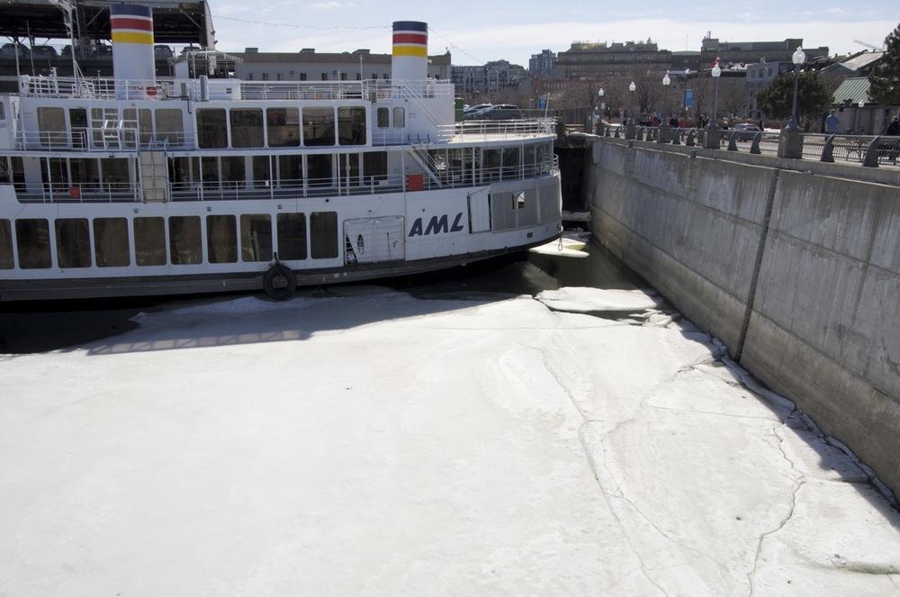 Dernières glaces, quai Alexandra