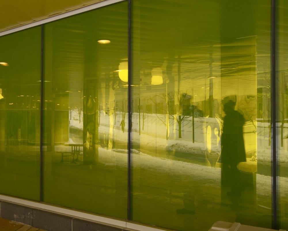 Les fenêtres teintées du Pavillon des Sciences biologiques, UQAM