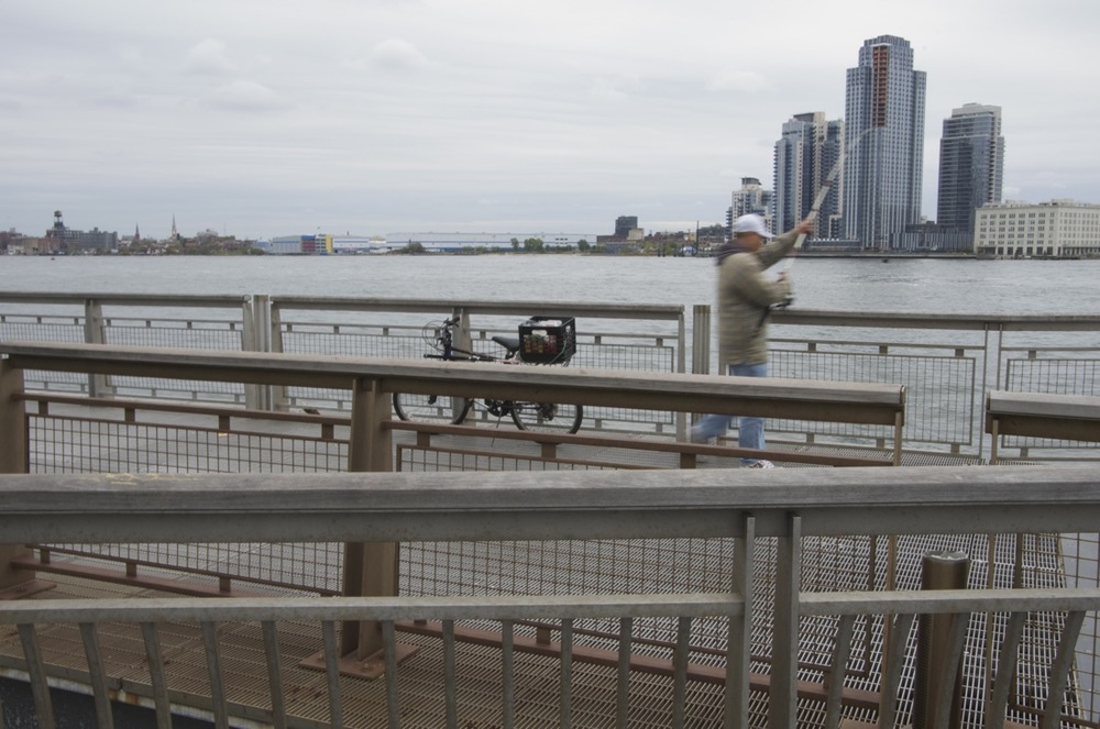 Fisherman on the East River Promenade