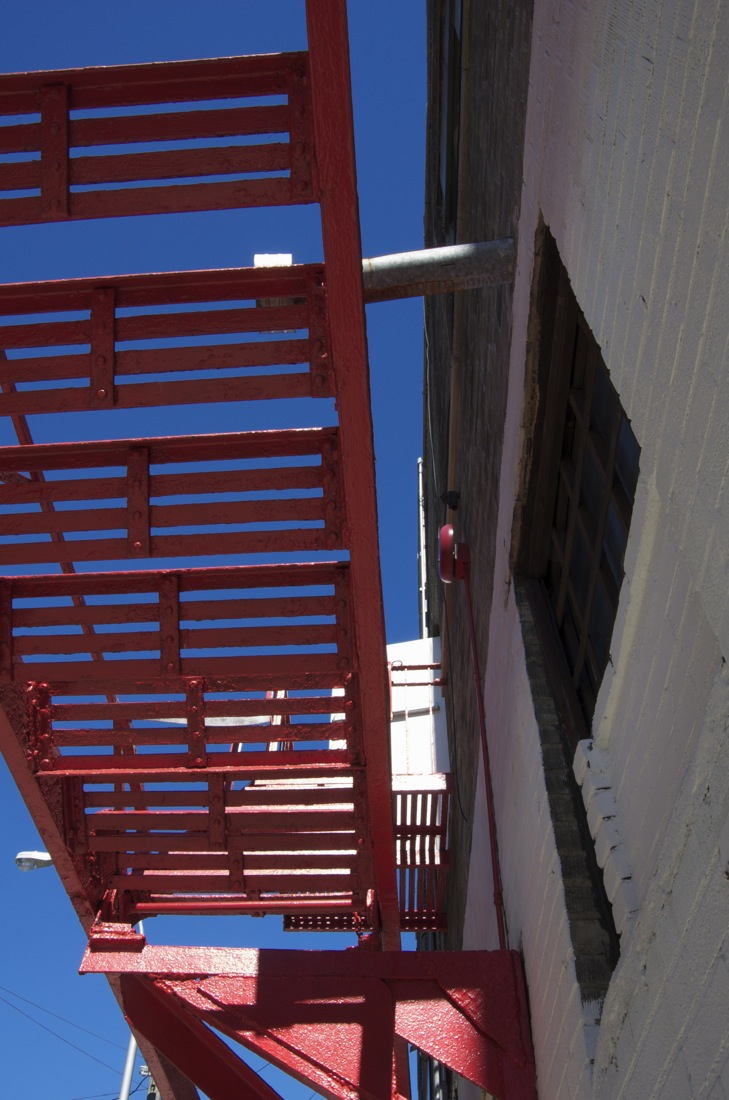 Red Fire Escape, 45th Street, Sunnyside, Queens