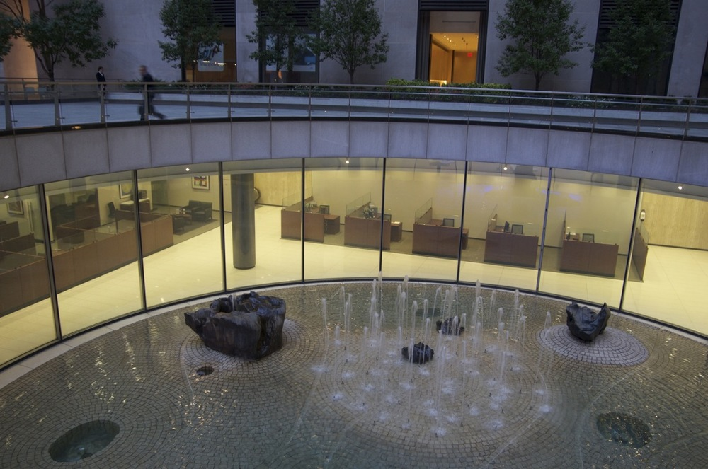 The Sunken Fountain of the Chase Manhattan Plaza