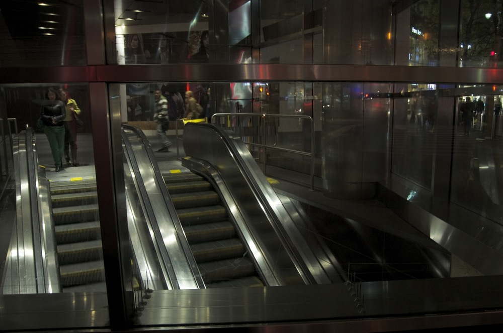 Escalators at the 42nd Street Station, 7th Avenue