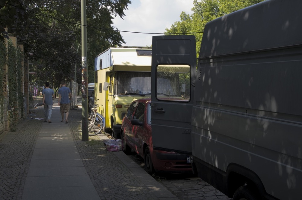 Vohnmobil durch den Fußsteig, Bethaniendamm