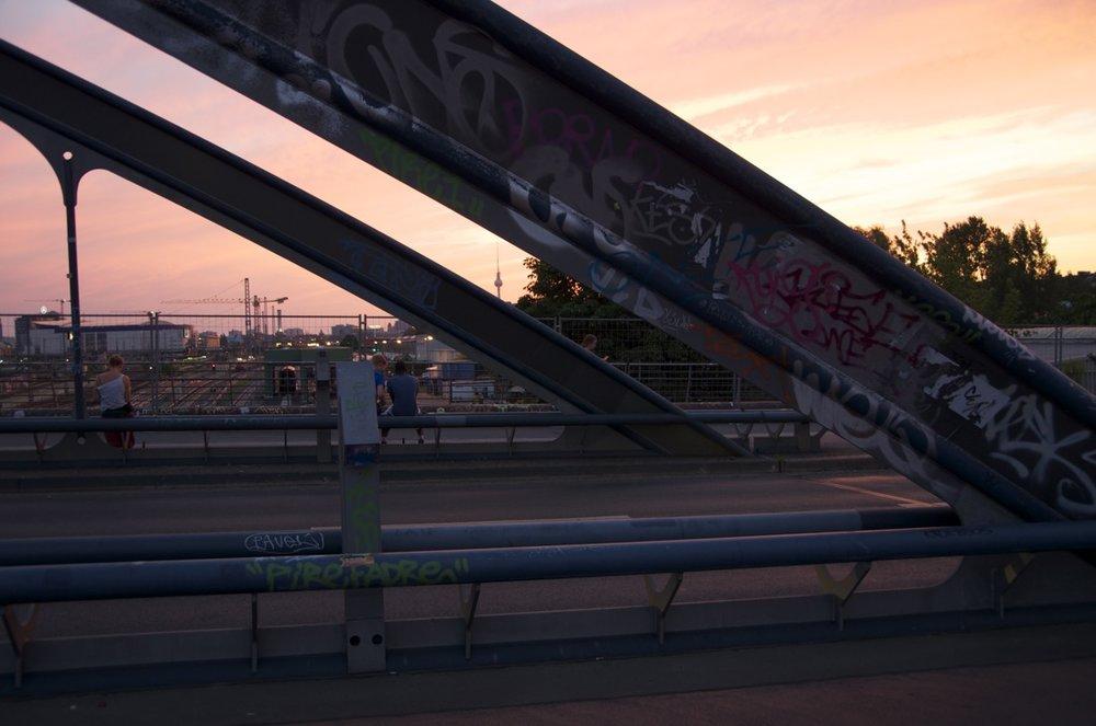Dämmerung auf der Modersohnbrücke