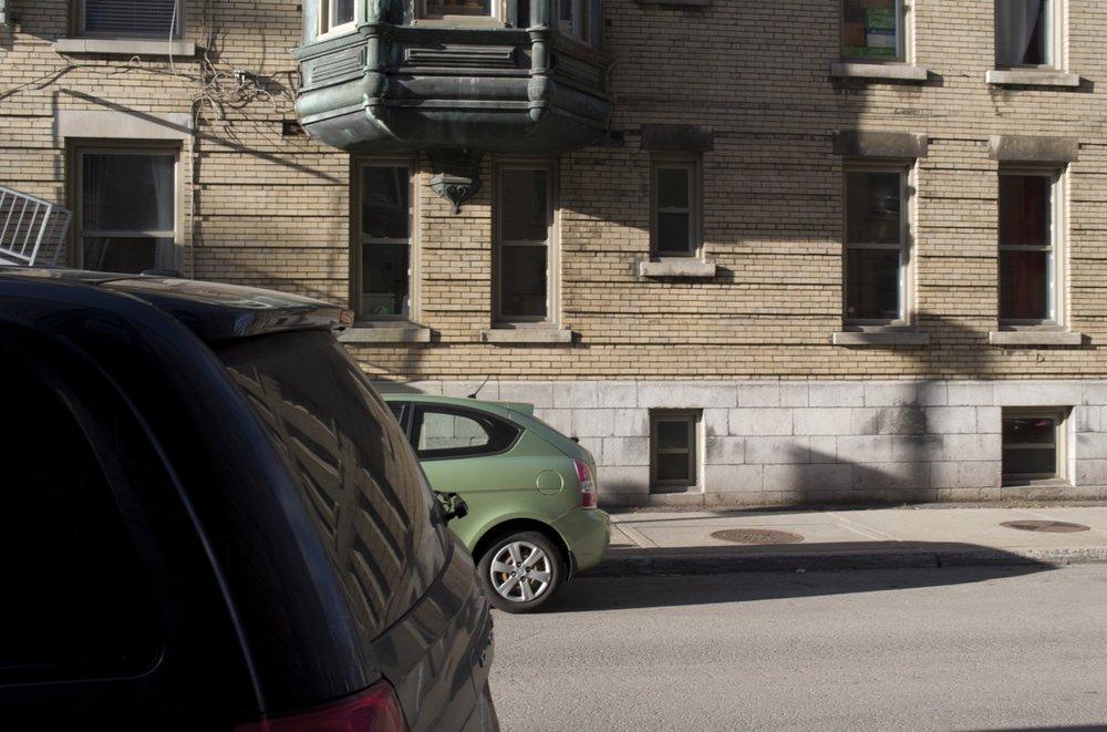 Ombres étirées, rue Tupper