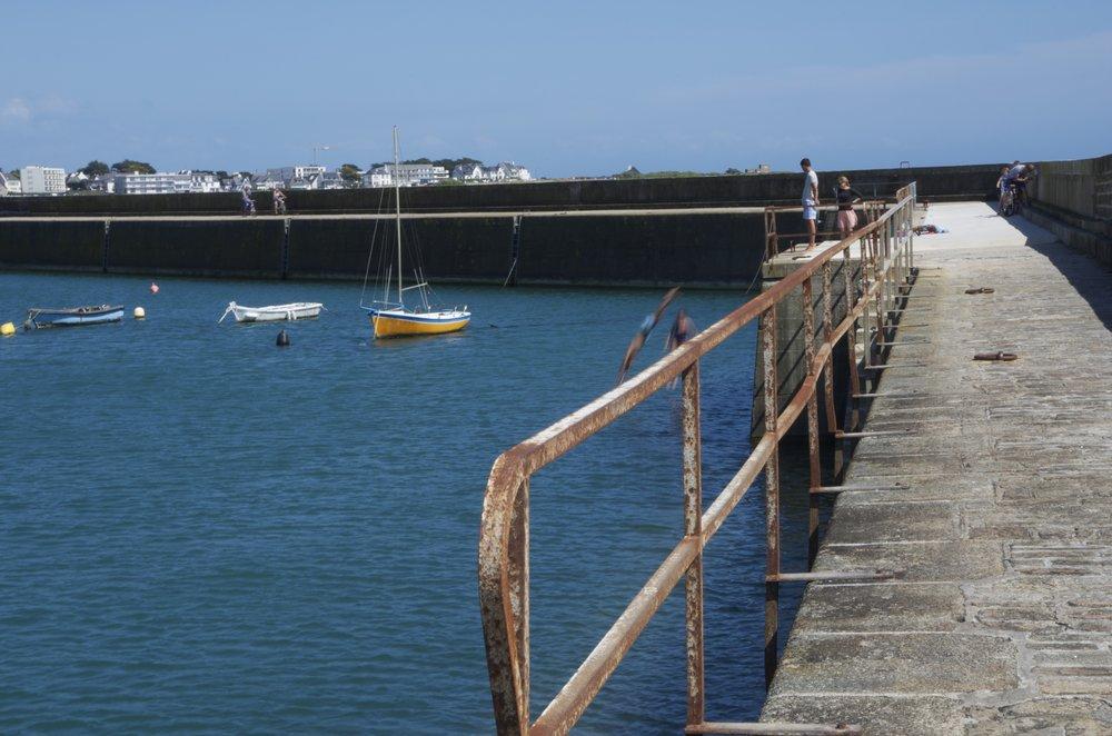 Plongeurs, môle sud de Port-Maria, Quiberon