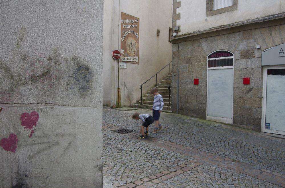 Dans la rue du Mur, Morlaix