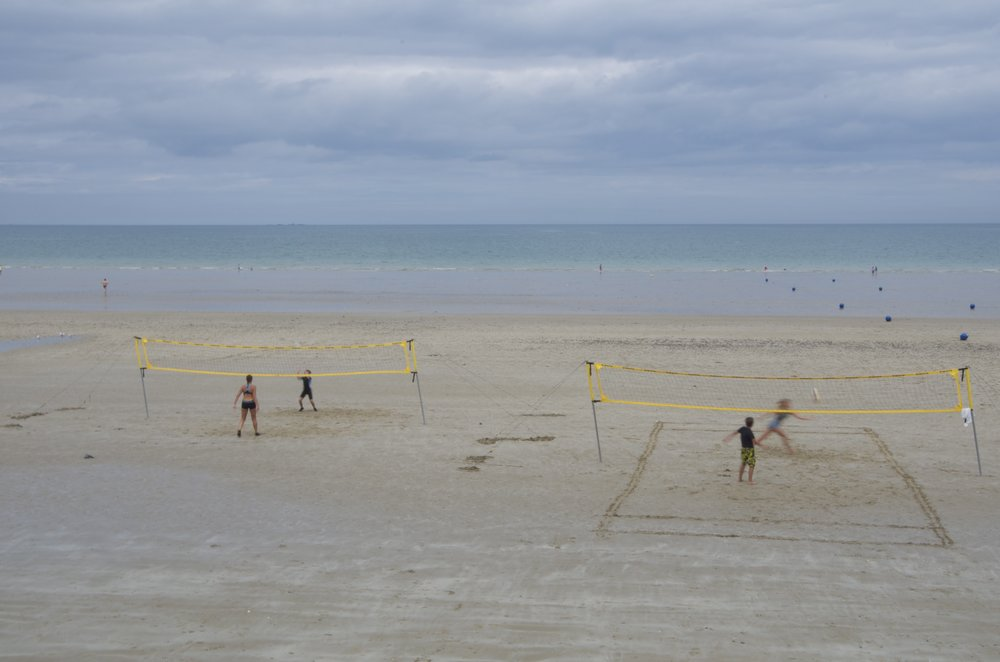 Volleyball, plage les Rosaires, Plérin