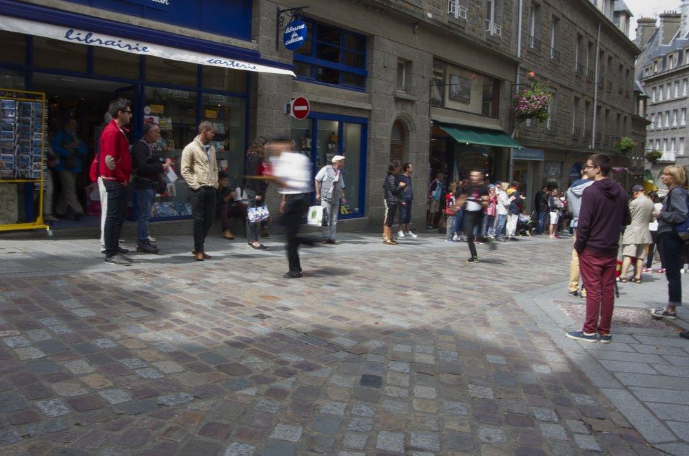 Course des garçons de café, Rue Porcon-de-la-Barbianis, St-Malo 1/2